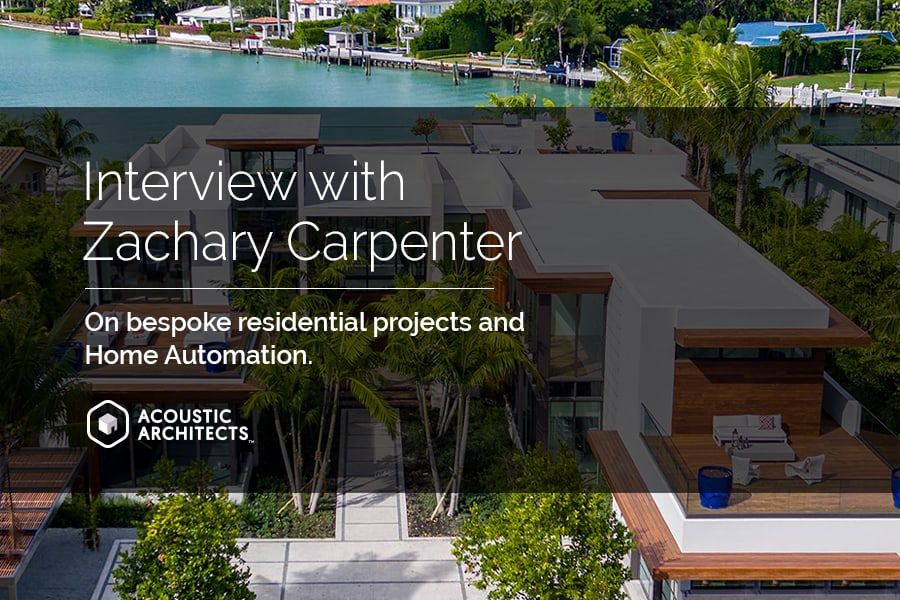 Smart home automation with To Better Days Development, Zachary Carpenter and Acoustic Architects.