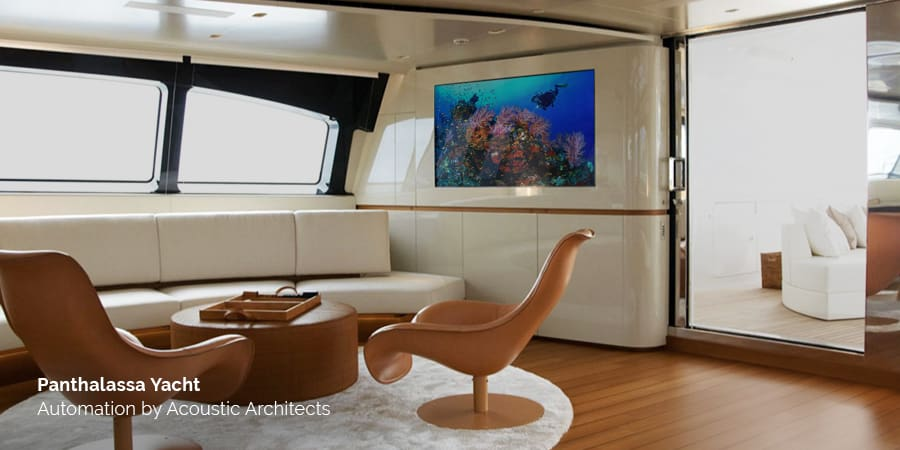 The Mallorca Spain based Panthalassa yacht is a grand oceanic luxury liner engineered with marine craft smart features by Acoustic Architects.