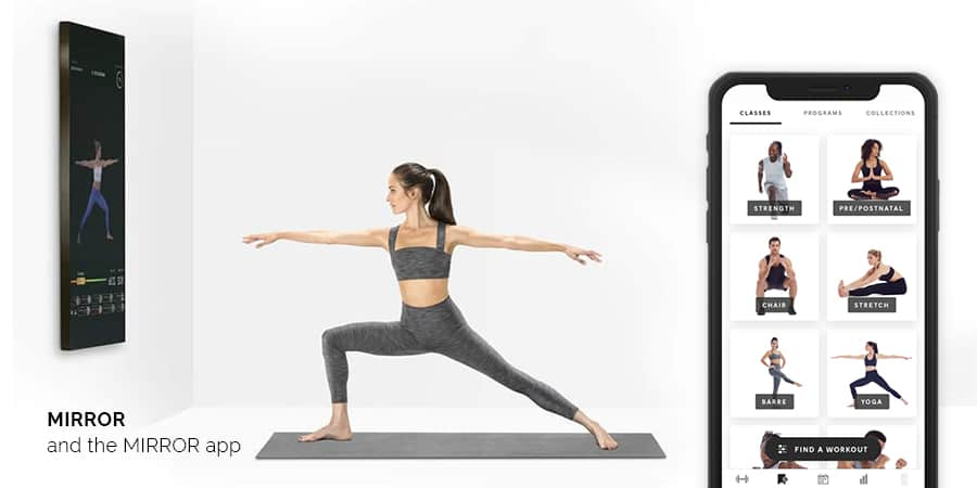 The smart fitness Mirror home gym and studio by Brynn Putnam, founder of Refine Method Studio in NYC.