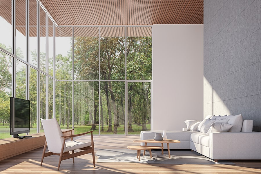 Biophilic design connects you to your natural environment utilizing smart home tech like lighting design, water purification, climate control, and sleep regulation, expertly integrated by Acoustic Architects.
