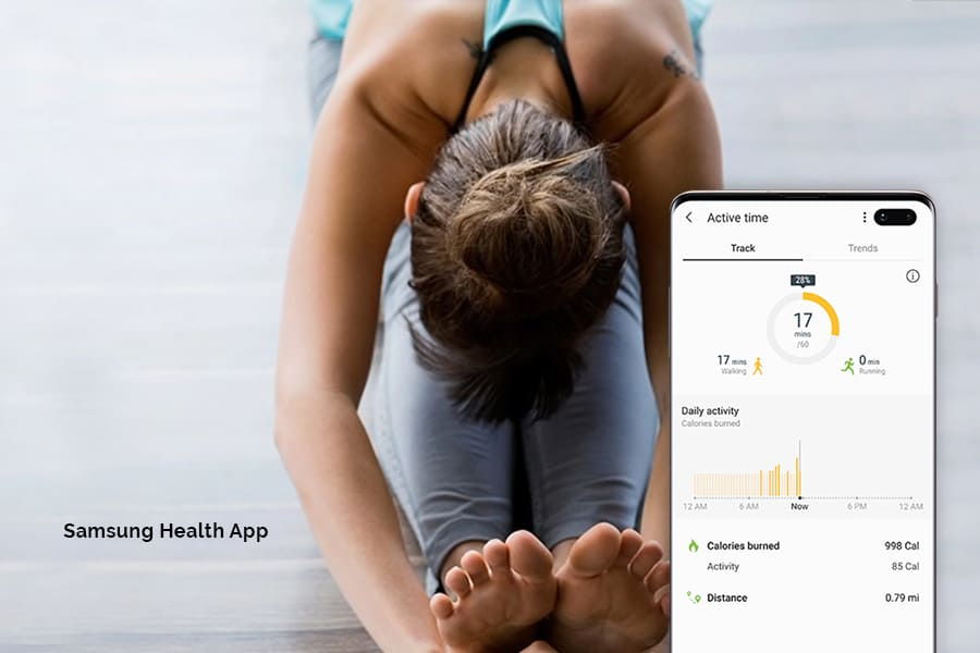Samsung TV health and wellness apps like barre3, Calm, Echelon, Fitplan, Jillian Michaels Fitness, and obé Fitness for your smart home during quarantine and social distancing.
