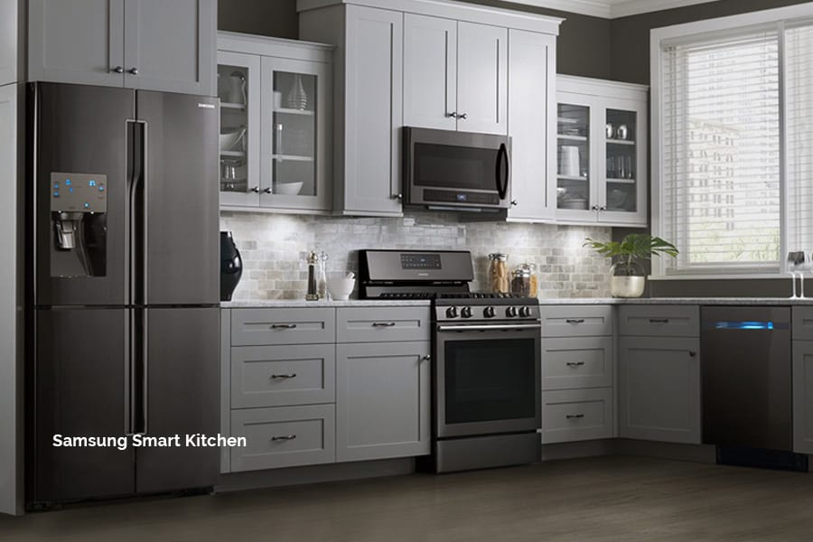 The new Samsung smart kitchen appliances with AI and a ton of style. Expertly integrated by Acoustic Architects.
