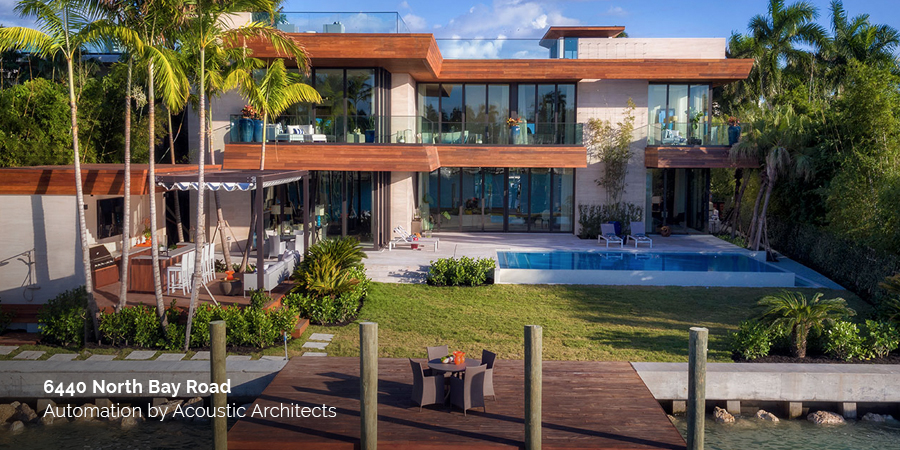 6440 North Bay Road by To Better Days Development with smart home automation by Acoustic Architects.