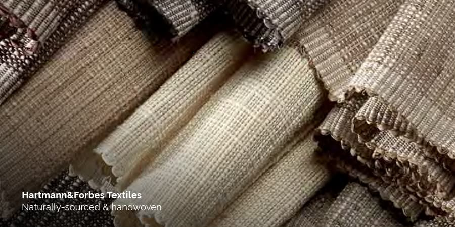 Hartmann&Forbes creates handwoven artisan textile window coverings for smart homes. acousticarchitects.net.