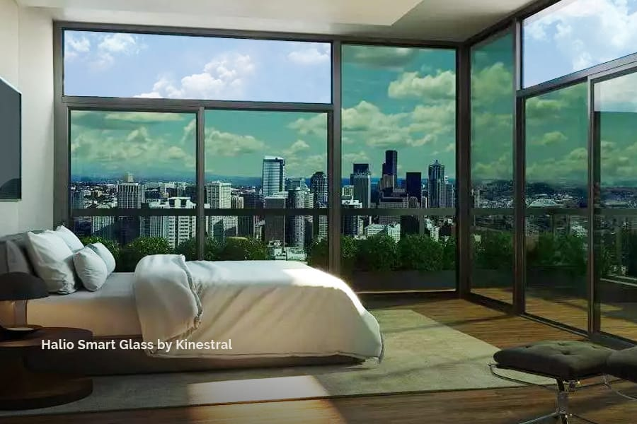 Uniform Tinting Halio Smart Glass from Kinestral tints and lightens in response to the sun, and integrates flawlessly into your smart home system. acousticarchitects.net.