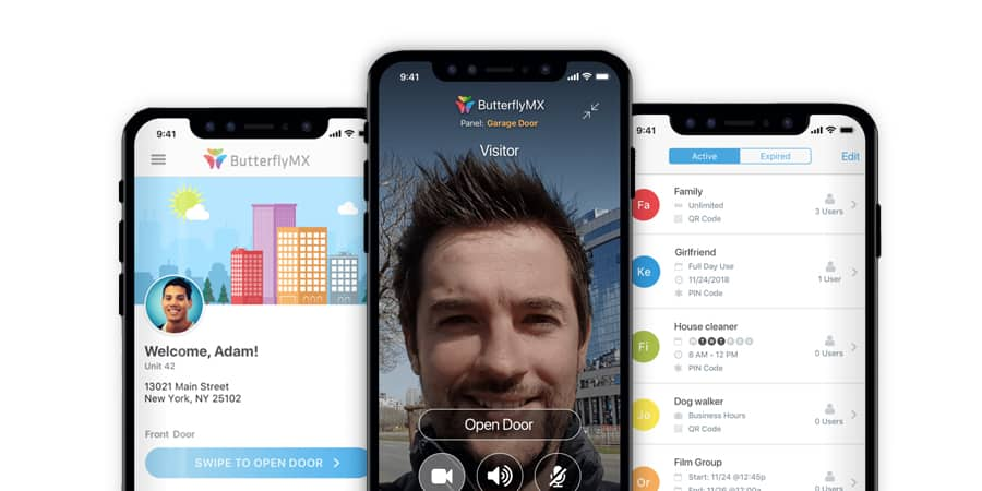 Butterfly MX, an intercom system that allows you to manage your home from anywhere in the world with an app, a new class of intercom for ultimate security and convenience. Expertly integrated by Acoustic Architects.