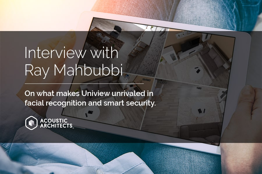 Uniview security cameras with facial recognition and thermal technology for the safest smart homes and smart cities, integrated by Acoustic Architects.