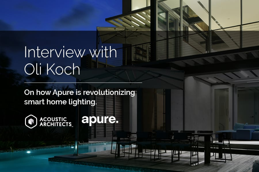 Apure lighting design for your smart home. acousticarchitects.net
