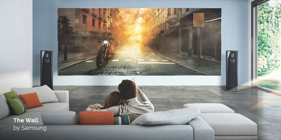 The Wall by Samsung—modular, microLED, customizable to any size—is an interior designer's dream. acousticarchitects.net